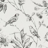 Ralph Lauren Fern Toile Etched Black Wallpaper - Product code: PRL710/04