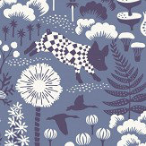 Boråstapeter Hoppmosse Blue Wallpaper - Product code: 1453
