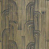 Lee Jofa Kelly Wearstler Crescent Ebony / Gold Wallpaper - Product code: GWP-3304.48.0