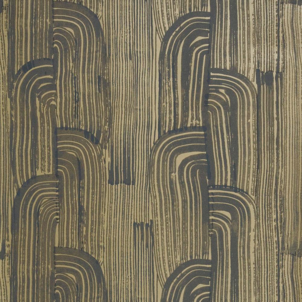Lee Jofa Kelly Wearstler Crescent Ebony / Gold Wallpaper - Product code: GWP-3304.48.0