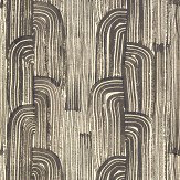 Lee Jofa Kelly Wearstler Crescent Ebony / Cream Wallpaper - Product code: GWP-3304.816.0