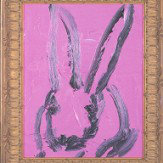 Lee Jofa Hunt Slonem Bunny Wall Black Wallpaper - Product code: GWP-3410.8.0