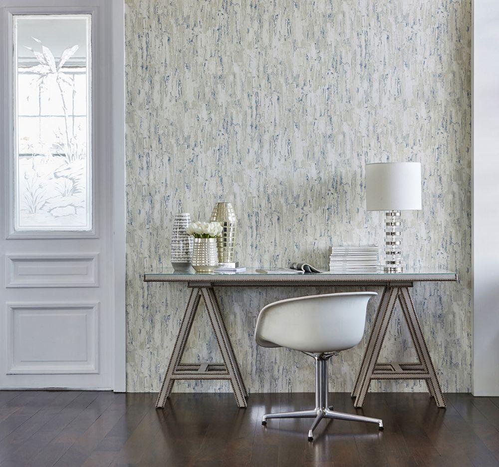 Capas Wallpaper - Bleached Denim - by Harlequin