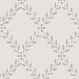 Boråstapeter Trellis Leaves White and Black Wallpaper - Product code: 4007