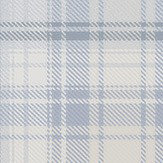 Boråstapeter Tartan Blue and White Wallpaper - Product code: 4006