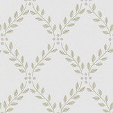 Boråstapeter Trellis Leaves Beige and White Wallpaper - Product code: 4008