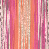 Harlequin Tilapa  Fuchsia and Coral Wallpaper