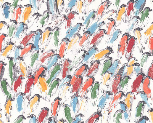Image of Lee Jofa Wallpapers Hunt Slonem Finches, GWP-3412.954.0