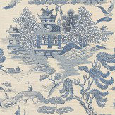 Lee Jofa Willow Lake Blue Wallpaper