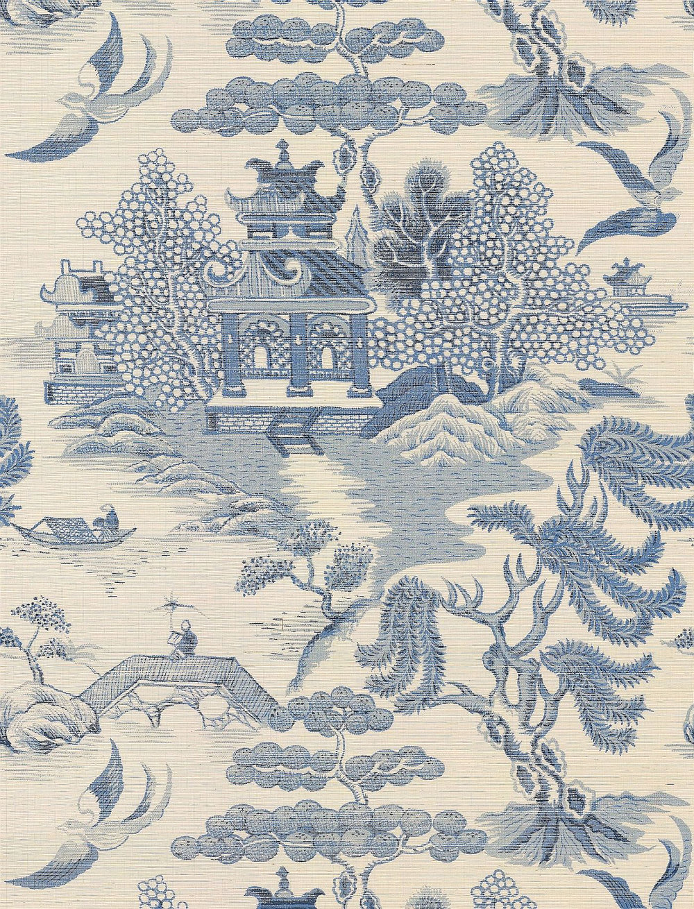Lee Jofa Willow Lake Blue Wallpaper - Product code: P2009010.5.0