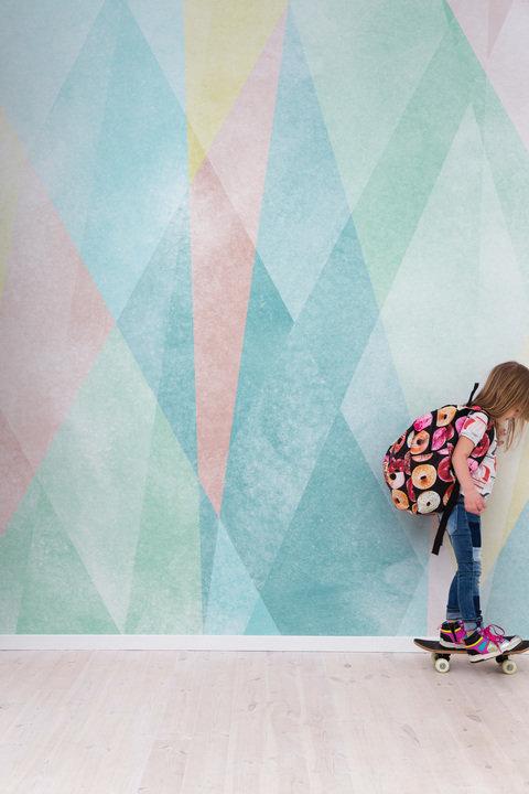 Prisma Mural - Turquoise  - by Sandberg