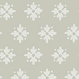Boråstapeter Petit Fleur Green/ Taupe and White  Wallpaper - Product code: 4015