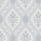 Boråstapeter Lily Blue and White Wallpaper - Product code: 4018