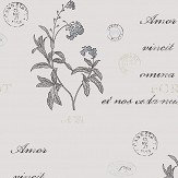 Boråstapeter Forget Me Not Beige and White Wallpaper - Product code: 4019