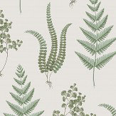 Boråstapeter Herba Green and White Wallpaper - Product code: 4021