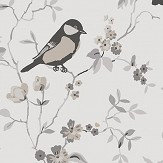 Boråstapeter Falsterbo Birds Taupe, Grey and White Wallpaper - Product code: 4023
