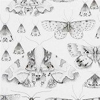 Designers Guild Issoria Black / White Wallpaper - Product code: PDG713/05