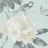 Sanderson Rhodera Aqua Wallpaper