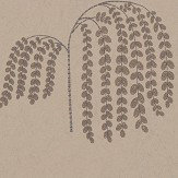 Sanderson Bay Willow Gold and Charcoal Wallpaper