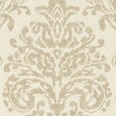 Sanderson Riverside Damask Cream and Gold Wallpaper