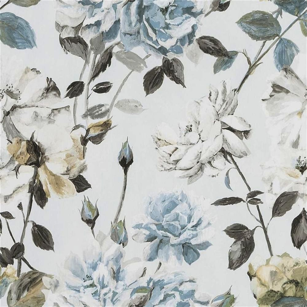 Designers Guild Couture Rose Graphite Wallpaper main image