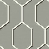 Wedgwood Home Hex Silver / Black Wallpaper