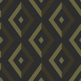Wedgwood Home Diamond Gold / Black Wallpaper - Product code: DIAMOND 3