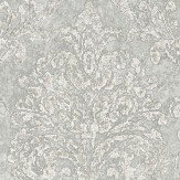 Sanderson Riverside Damask Dove and Silver Wallpaper