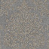 Sanderson Riverside Damask Mole and Copper Wallpaper