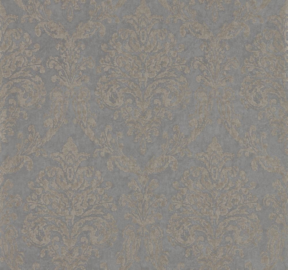 Sanderson Riverside Damask Mole and Copper Wallpaper main image