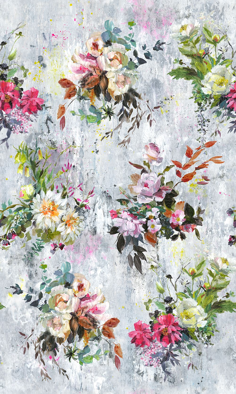 Aubriet Mural - Fuchsia - by Designers Guild