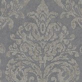 Sanderson Riverside Damask Steel and Silver Wallpaper