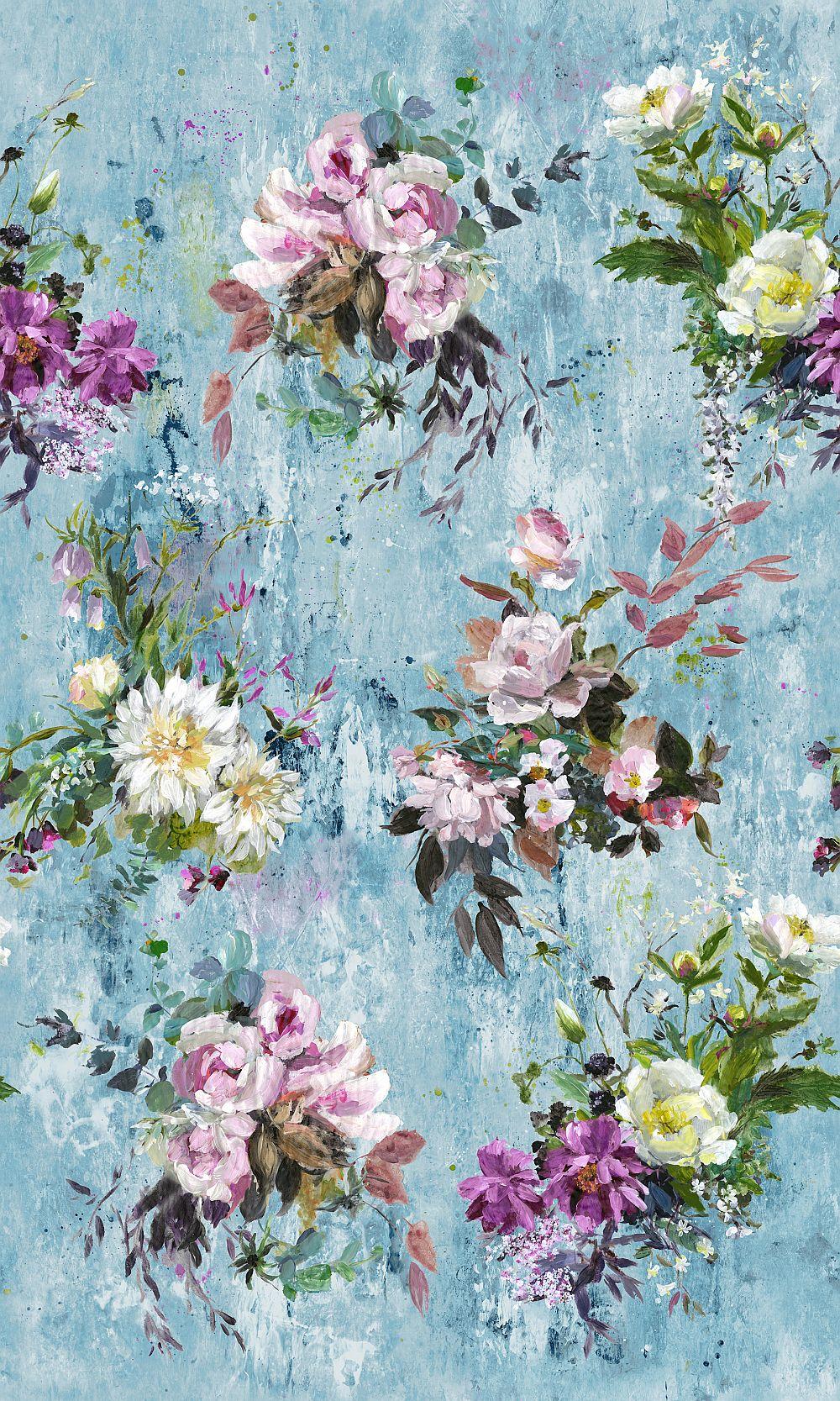 Aubriet Mural - Slate Blue - by Designers Guild