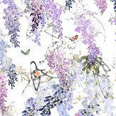 Sanderson Wisteria Falls Panel A Lilac Mural