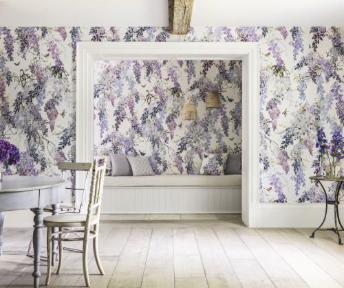 Wisteria Falls Panel A By Sanderson Lilac Mural