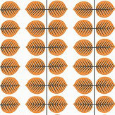 Boråstapeter Bersa Orange Wallpaper - Product code: 1754