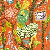 Boråstapeter Melodi Orange Wallpaper