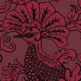 Cole & Son Balabina Velvet Red Wallpaper
