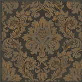 Cole & Son Stravinsky Charcoal and Bronze Wallpaper