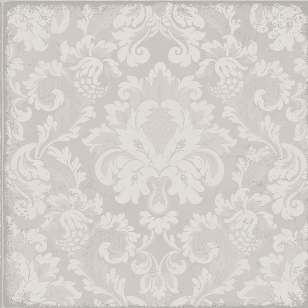Cole & Son Stravinsky White / Silver Wallpaper main image