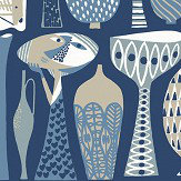 Boråstapeter Pottery Blue Wallpaper