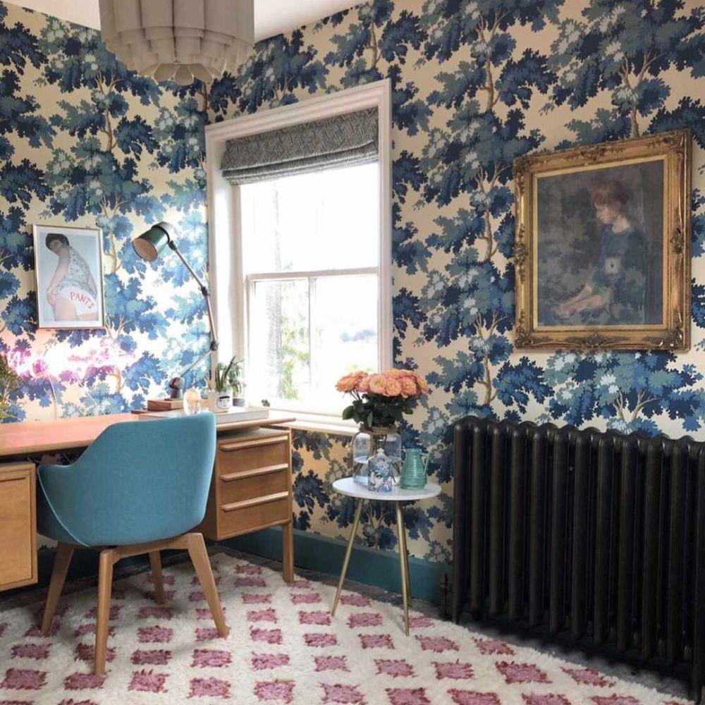 Raphael Wallpaper - Dark Blue - by Sandberg