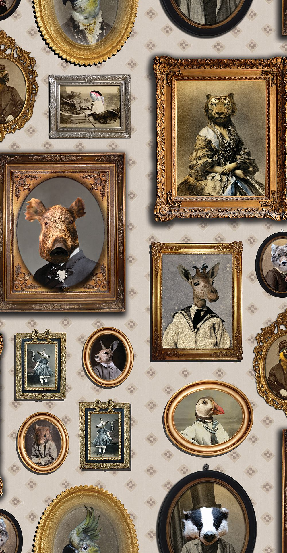 Graduate Collection Portrait Gallery Taupe Wallpaper main image