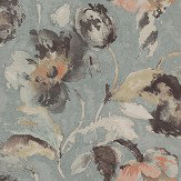 Jane Churchill Beatrice Aqua Wallpaper - Product code: J162W-03