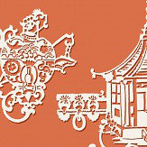 SketchTwenty 3 Chinois Aurora Orange Wallpaper