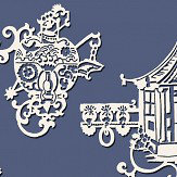 SketchTwenty 3 Chinois Lagoon Blue Wallpaper