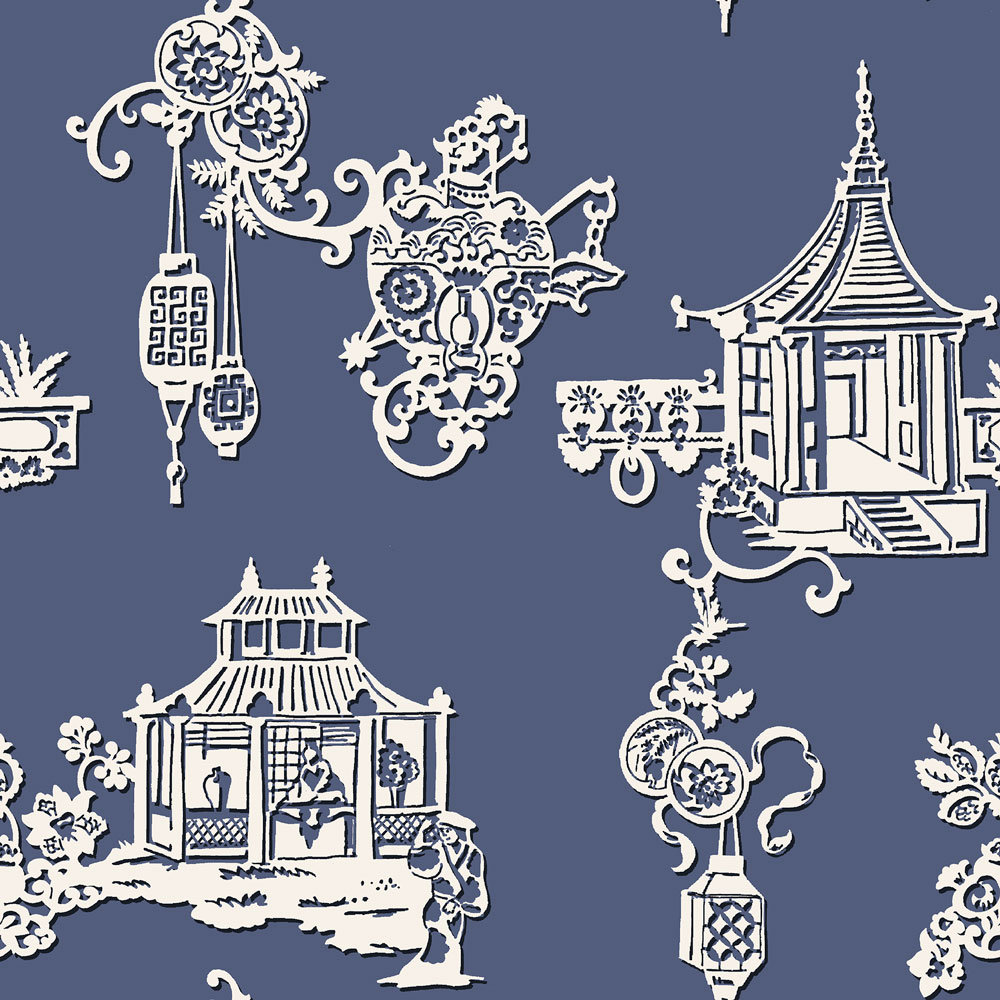 SketchTwenty 3 Chinois Lagoon Blue Wallpaper - Product code: MH00417