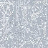 Boråstapeter Poeme d´amour Blue Wallpaper