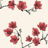 SketchTwenty 3 Blossom Radicchio Red Wallpaper