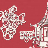 SketchTwenty 3 Chinois Radicchio Red Wallpaper